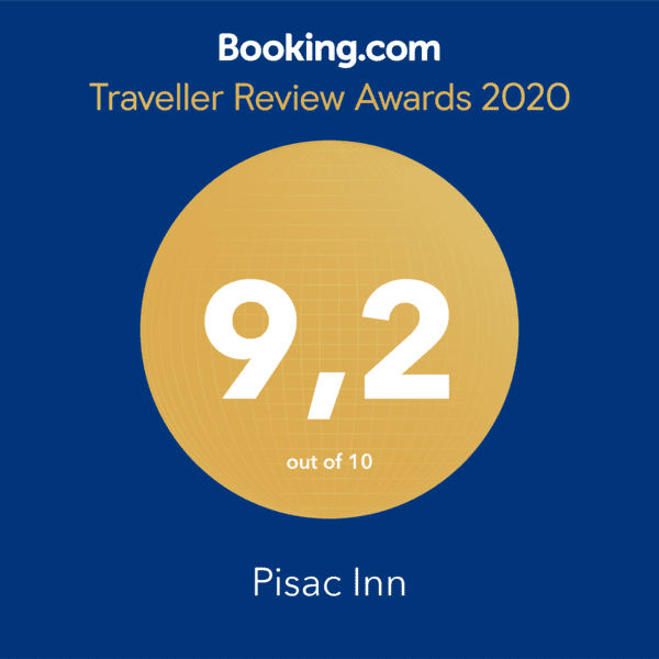 Pisac Inn 9.1 Booking.com award